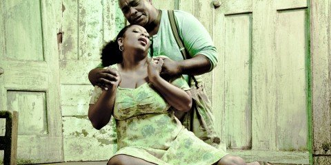 Sibongile Mngoma (Bess) and Xolela Sixaba (Porgy) in Cape Town Opera's production of Porgy and Bess. Photo by Wayne Keet (5)