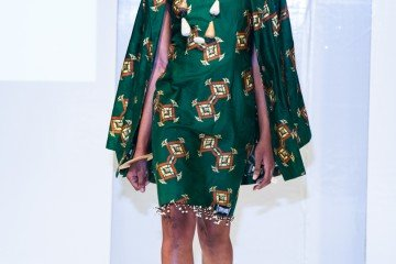 Green Mamba Design collection at Africa Fashion Week London 2012