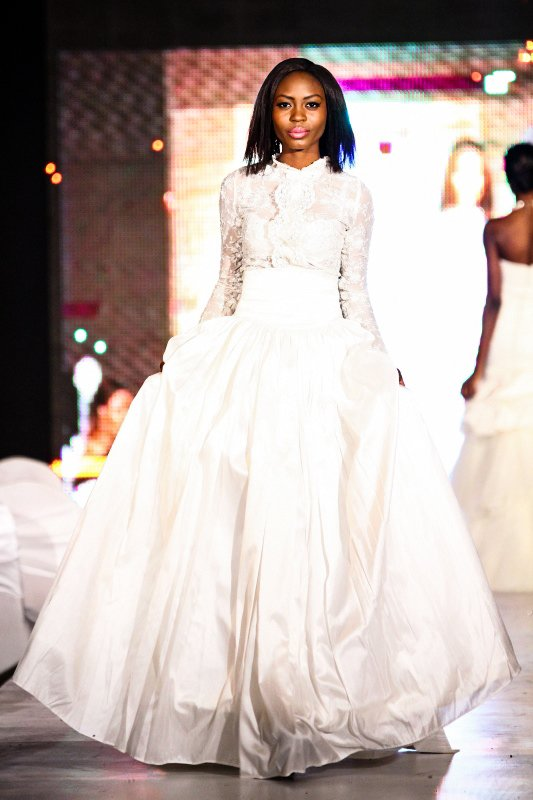 The Grand Finale Came In With Mai S Lush Wedding Gown