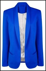 Royal Blue Womens Blazer Photo Album - Reikian