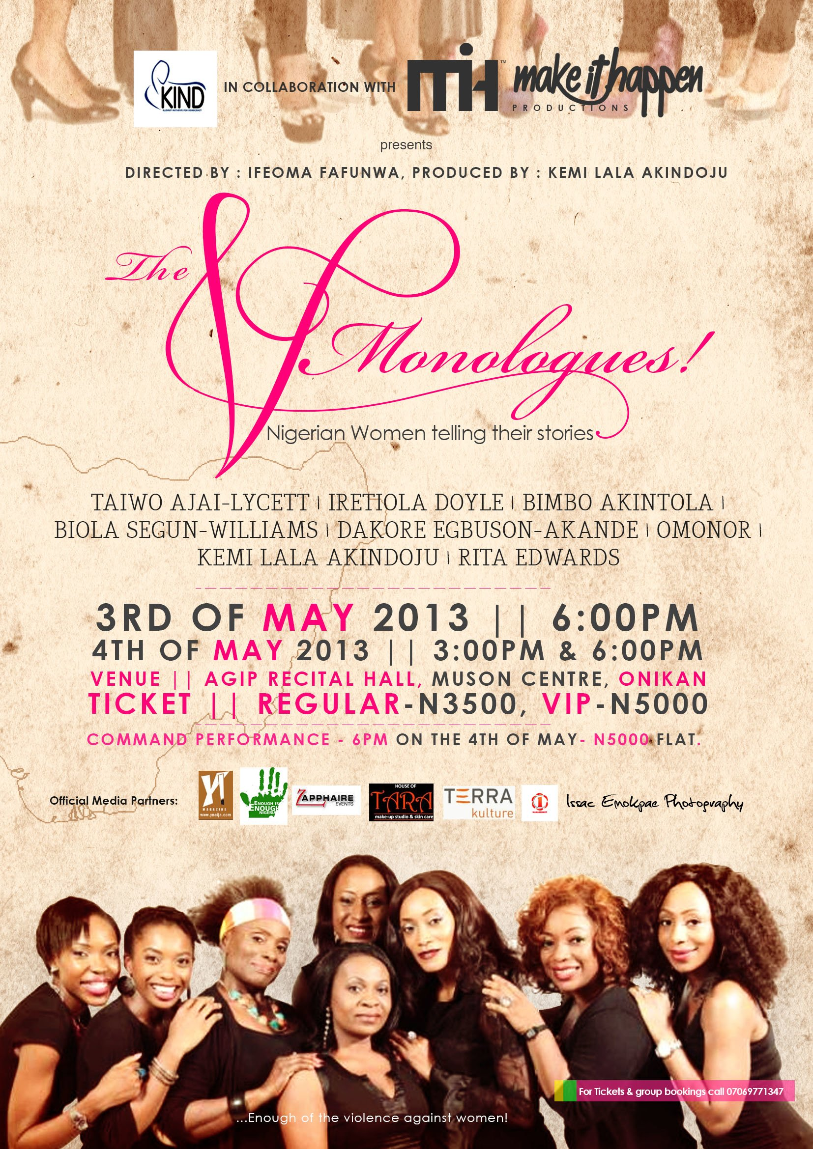 The V Monologues flier