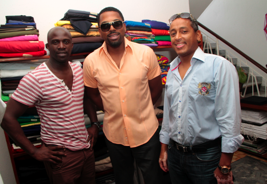 Maje Ayida, Obaro Ibru and friend