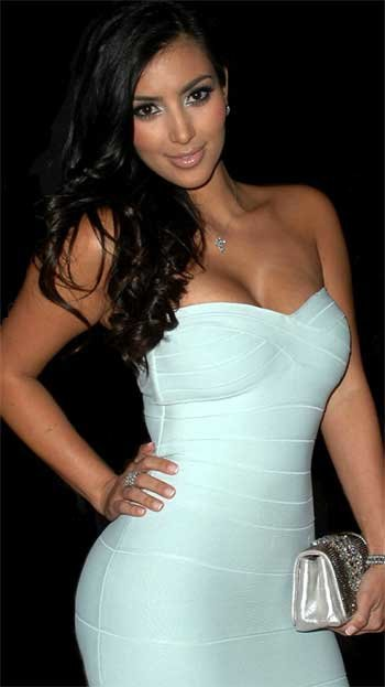 Kim Kardashian White Evening Dress 51
