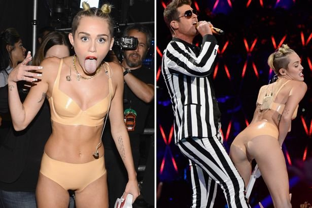 FAB News: Miley Cyrus causes a stir at the MTV awards - FAB BLOG