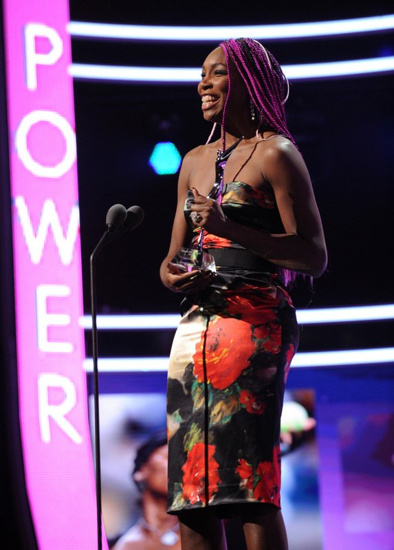 Venus Williams accepts the Star Power award