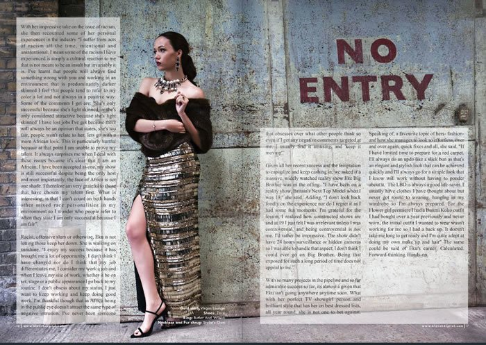 FAB Cover Eku Edewor Is The Cover Girl For Blanck Magazine's First Issue (8)
