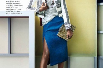 FAB Fashion Dominican Model Arlenis Sosa Featured In Glamour Magazine February 2014 In African Designers Maki Oh And Edun, Among Others (4)