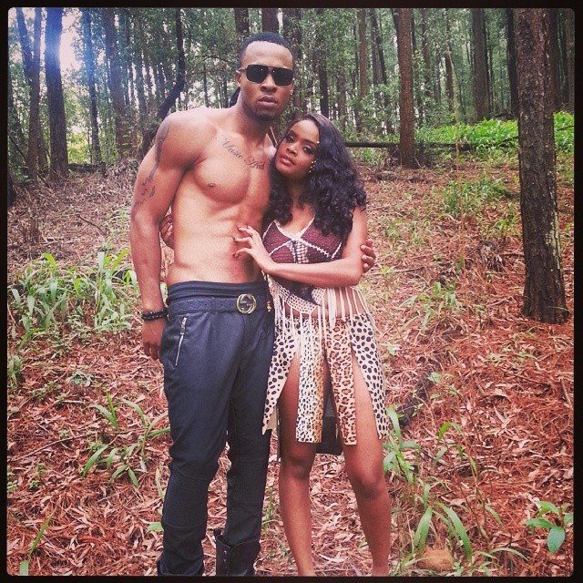 Flavour-and-Big-Brother-Africa-winner-Dillish-Mathews-on-the-set-of-Ikwokrikwo-music-video
