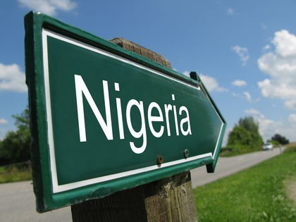 NIGERIA road sign