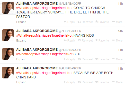 The Power Of Hashtag, Ali Baba Keeps The Coversation Going On #WhatKeepsMarriagesTogetherIsNot For 14 Hours (2)