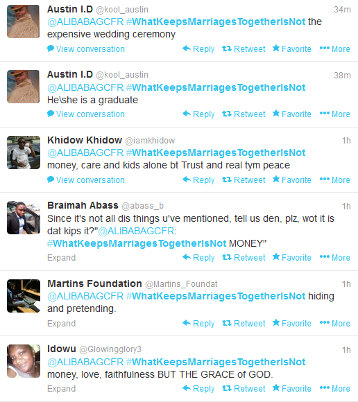 The Power Of Hashtag, Ali Baba Keeps The Coversation Going On #WhatKeepsMarriagesTogetherIsNot For 14 Hours (6)