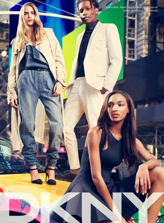 jourdan-dunn-asap-rocky-cara-delevingne-by-mikael-jansson-for-dkny-spring-2014-ad-campaign