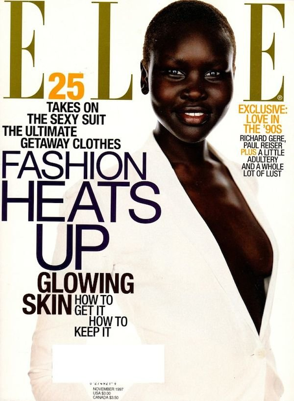 Alek Wek For Elle Magazine November 1997