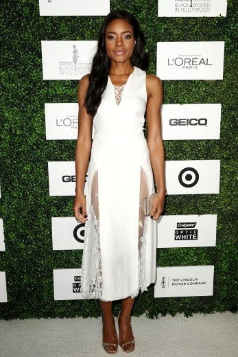 Naomie Harris Wearing Wes Gordon