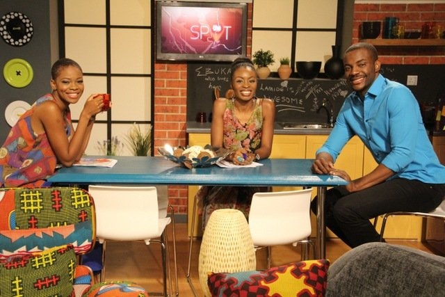 Zainab Balogun, Lamide Akintobi & Ebuka Obi-Uchendu, Hosts Of 'The Spot'