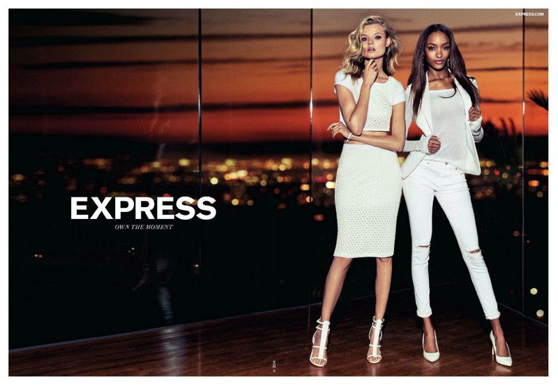 fab fashion jourdan dunn for express spring summer 2014 ad campaign fab blog. Black Bedroom Furniture Sets. Home Design Ideas