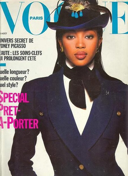 Naomi Campbell for Vogue Paris, August 1988