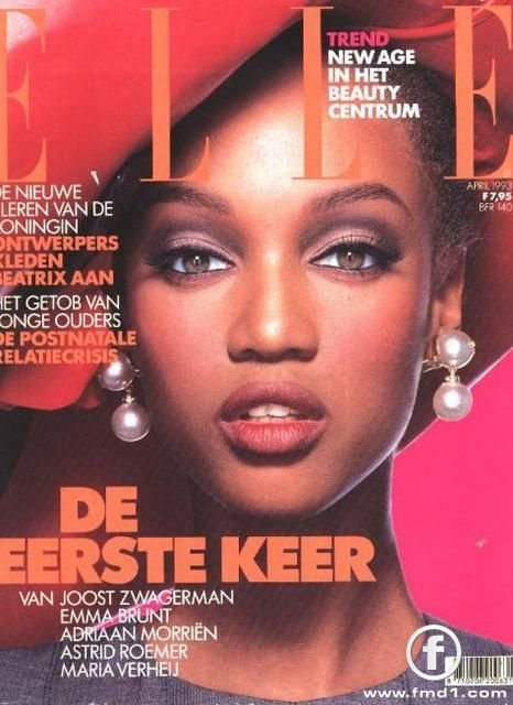 Tyra Banks for Elle Netherlands 1993
