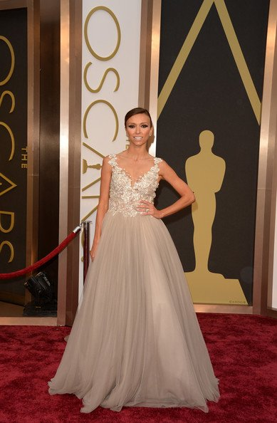 Giuliana Rancic Wearing Paolo Sebastian Couture