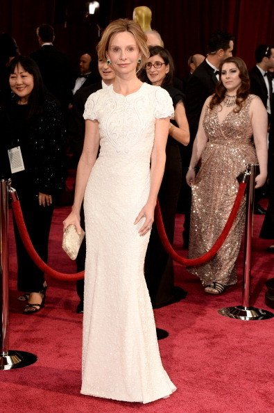 Calista Flockhart Wearing Andrew Gn