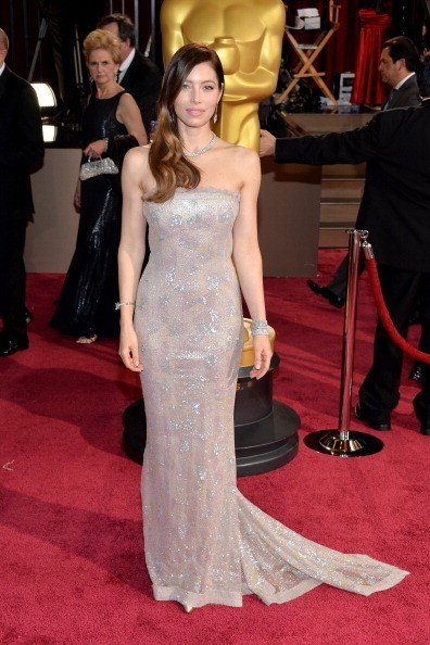 Jessica Biel Wearing Chanel Couture