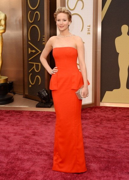 Jennifer Lawrence Wearing Dior Couture