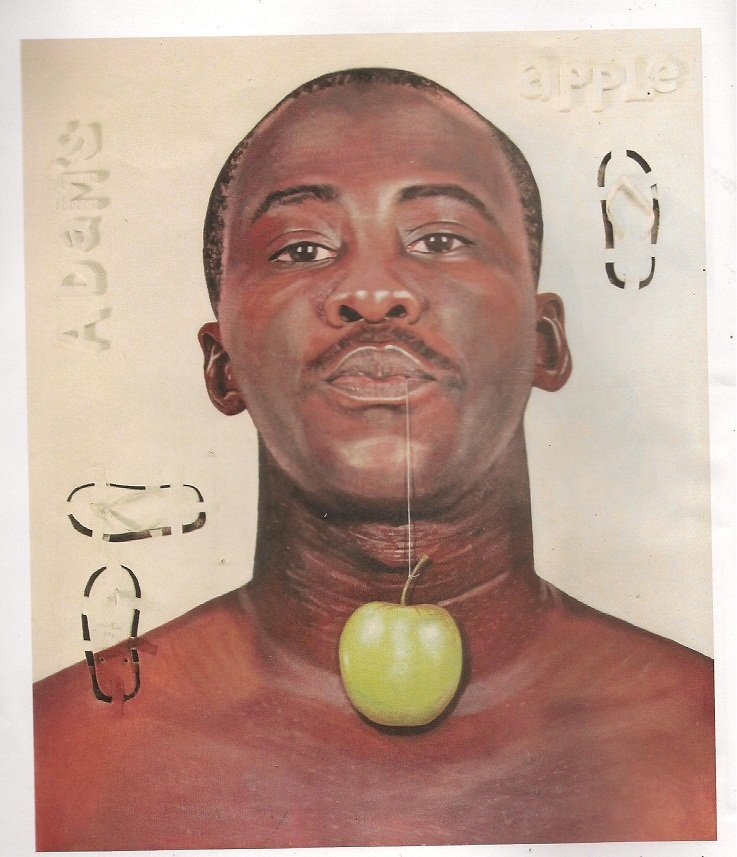 "Joseph Eze's Self Portrait ""Adam's Apple"""