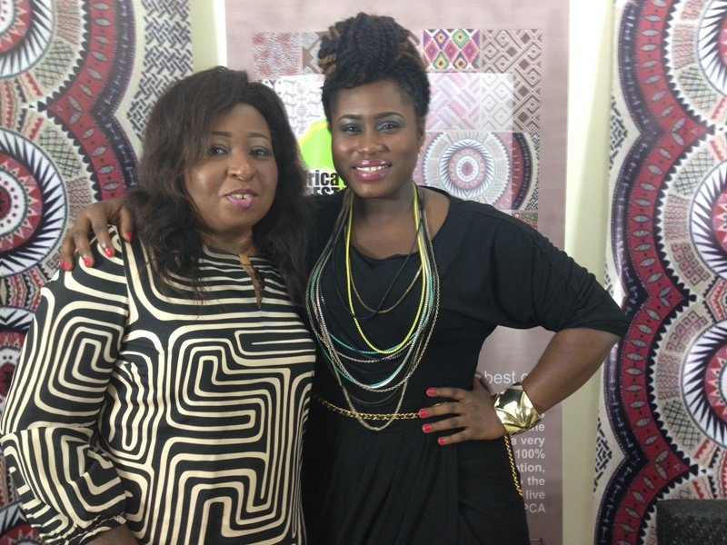 Lydia Forson and Peace Anyiam-Osigwe CEO of AMAA Award at the ceremony last week (2)