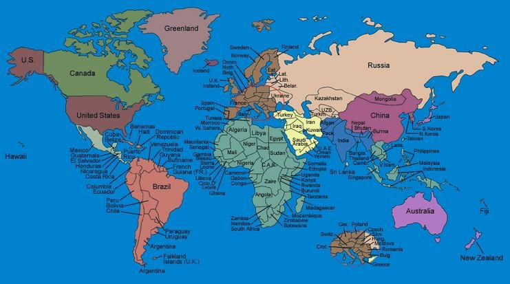 Fab Entertainment Check Out The Map That Reveals What Every Country