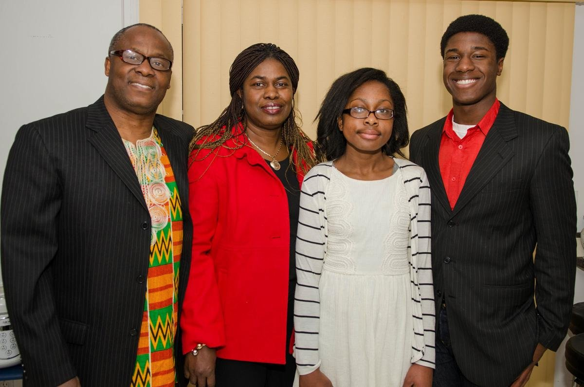 Kwasi Enin and family
