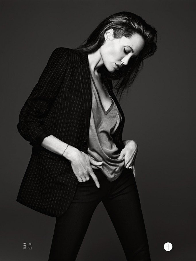 Angelina Jolie By Hedi Slimane For US Elle June 2014 Issue FAB Magazine (11)