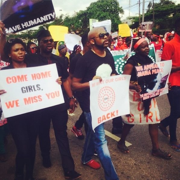 FAB News #BringBackOutGirls Protests Continue As Tiwa Savage, Lami Phillips, Waje, Banky W & More Take To The Streets FAB Magazine (1)
