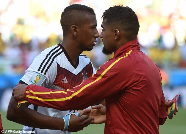 Boateng brothers, Kevin-Prince & Derek faced off against each other