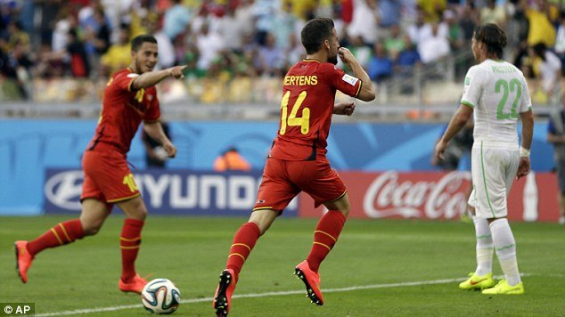 Belgium celebrate their comeback victory
