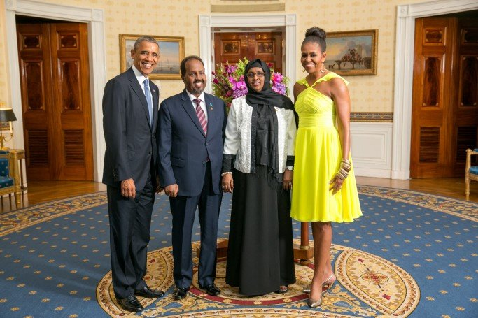 His Excellency Hassan Sheikh Mohamud, President of the Federal Republic of Somalia, and Mrs. Qamar Ali Omar