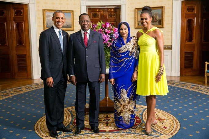 His Excellency Idriss Deby Itno, President of the Republic of Chad, and Mrs. Hinda Deby Itno