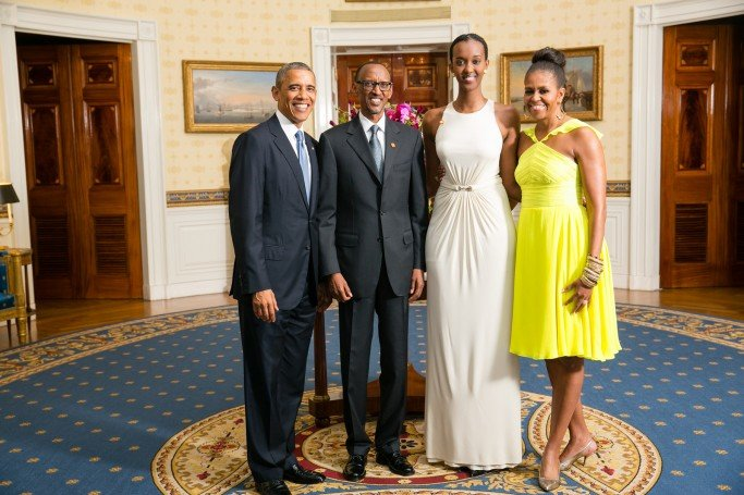 His Excellency Paul Kagame, President of the Republic of Rwanda, and his daughter