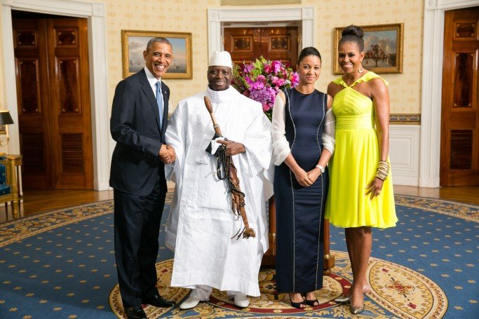 His Excellency Yahya A.J.J. Jammeh, President of the Republic of The Gambia, and Mrs. Zineb Jammeh