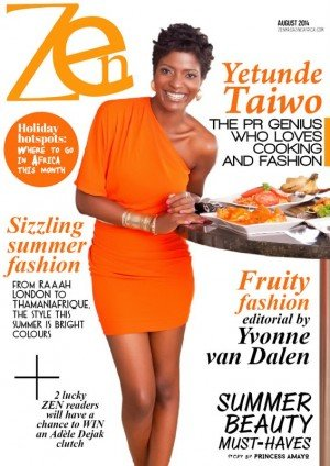 Zen+Magazine+Africa+August+2014+Cover+with+Yetunde+Taiwo