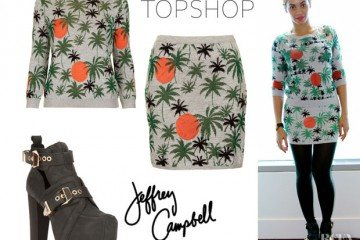 Beyonce-Knowles-Topshop-Palm-Tree-Lurex-Sweater-Topshop-Palm-Tree-Lurex-Skirt-And-Jeffrey-Campbell-Litrane-Platform-Boots