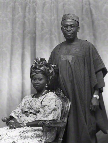 Throwback picture of Chief and Chief Mrs Awolowo
