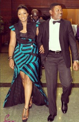 Omotola and Husband, Captain Ekehinde
