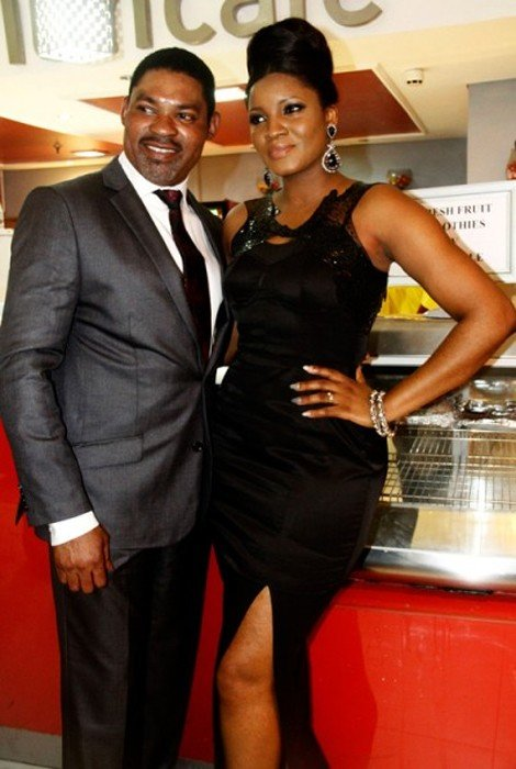 Omotola and her Best Man Captain Ekehinde