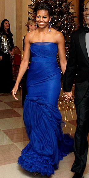 Fashion Icon! 10 Outfits That Show Blue is Michelle Obama ...