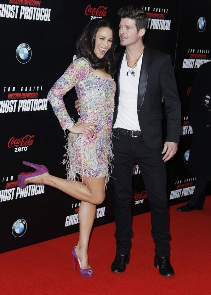 Robin Thicke and estranged wife Paula Patton
