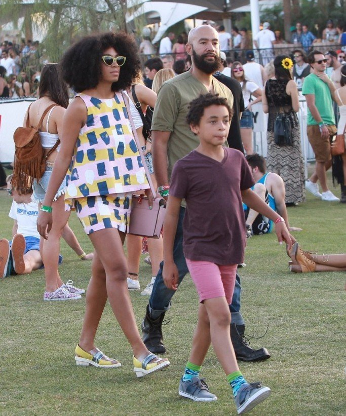 Solange, Her Son Julez and Alan Ferguson