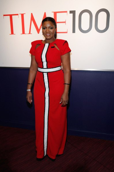 Attending the Time 100 gala where she was named amongst the 100 most influential people in the world