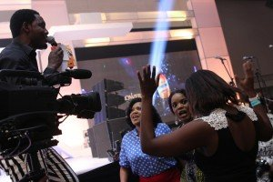 Toyin Aimakhu and Empress Njamaha and another winner receiving the news...