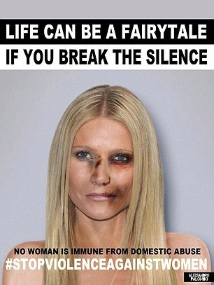 01 Dec 2015 Gwyneth Paltrow Italian artist Alexsandro Palombo disfigures (in photos) eight international stars to denounce violence against women worldwide. BYLINE MUST READ : NO CREDIT *AVAILABLE FOR UK SALE ONLY* ***UK CLIENTS - PICTURES CONTAINING CHILDREN PLEASE PIXELATE FACE PRIOR TO PUBLICATION *** **UK CLIENTS MUST CALL PRIOR TO TV OR ONLINE USAGE PLEASE TELEPHONE  +44 208 344 2007