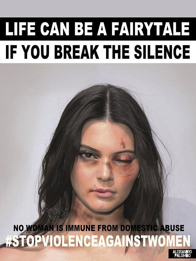 01 Dec 2015 Kendall Jenner Italian artist Alexsandro Palombo disfigures (in photos) eight international stars to denounce violence against women worldwide. BYLINE MUST READ : NO CREDIT *AVAILABLE FOR UK SALE ONLY* ***UK CLIENTS - PICTURES CONTAINING CHILDREN PLEASE PIXELATE FACE PRIOR TO PUBLICATION *** **UK CLIENTS MUST CALL PRIOR TO TV OR ONLINE USAGE PLEASE TELEPHONE  +44 208 344 2007